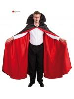 Cape vampire super luxe rouge et noir 170cm