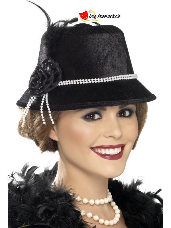 Chapeau charleston noir femme