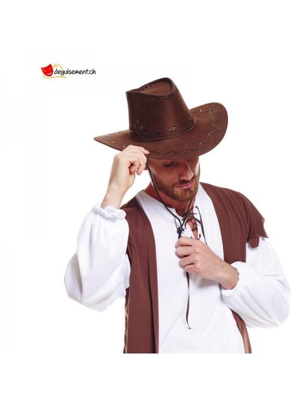 Chapeau de cowboy marron adulte