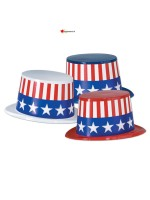 Chapeau haut de forme Amerique adulte