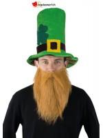 Chapeau Haut de forme St-Patrick avec barbe