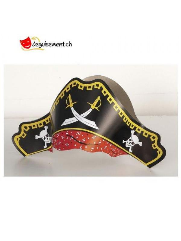 Chapeaux de Pirate en carton - 4pcs