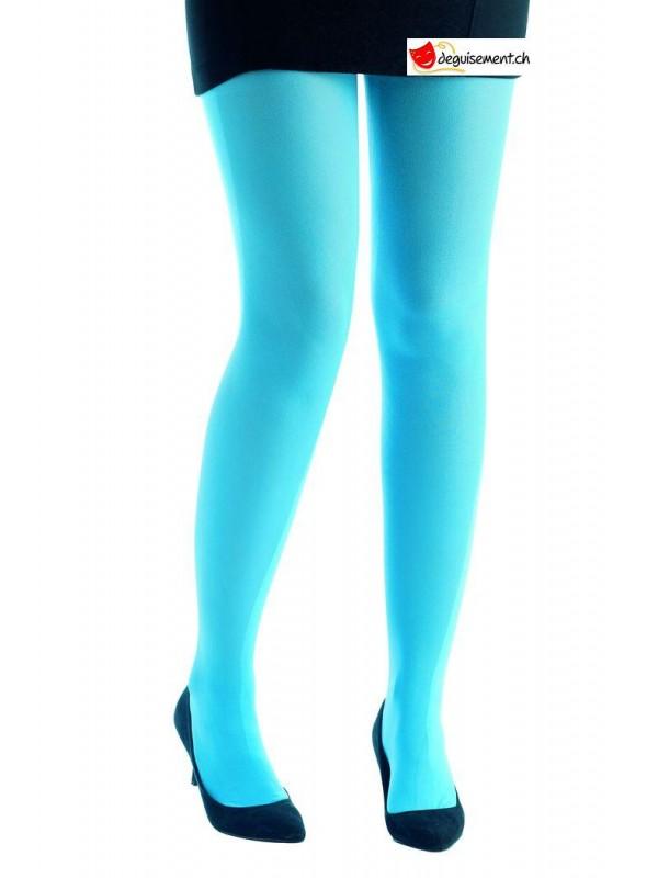 Collant opaque bleu clair