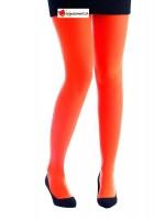 Collant opaque orange fluo
