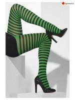 Collant rayé vert et noir