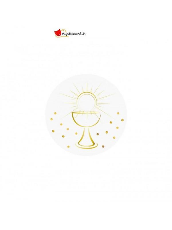 Confettis white/gold communion