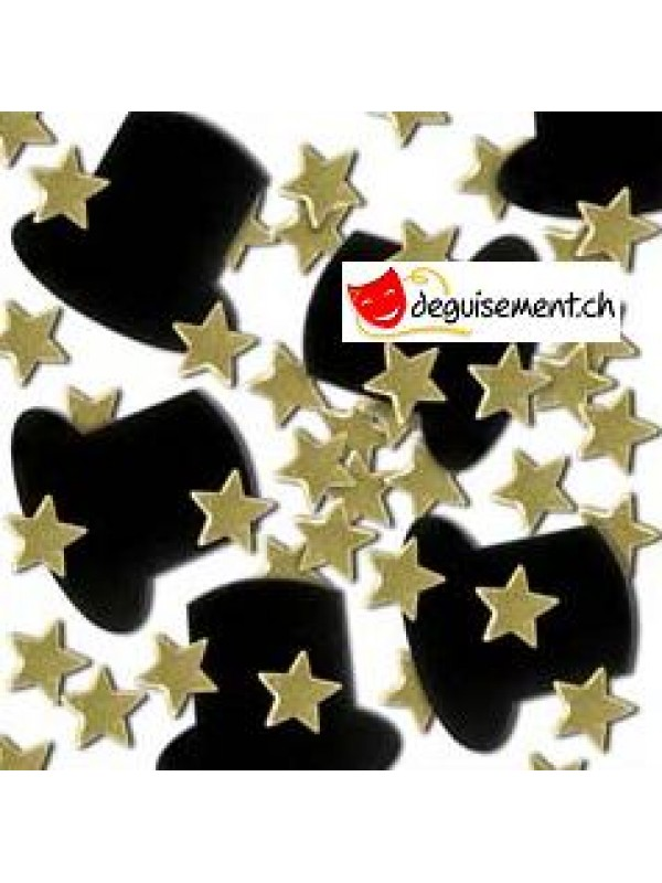 Confettis dorée Soirée Gala  - Nouvel An