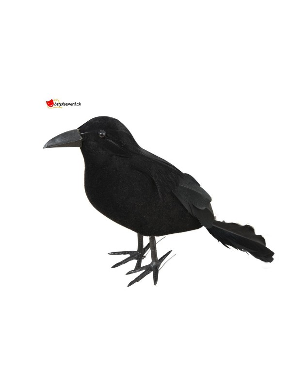 Black feathered raven 12cm with hooks