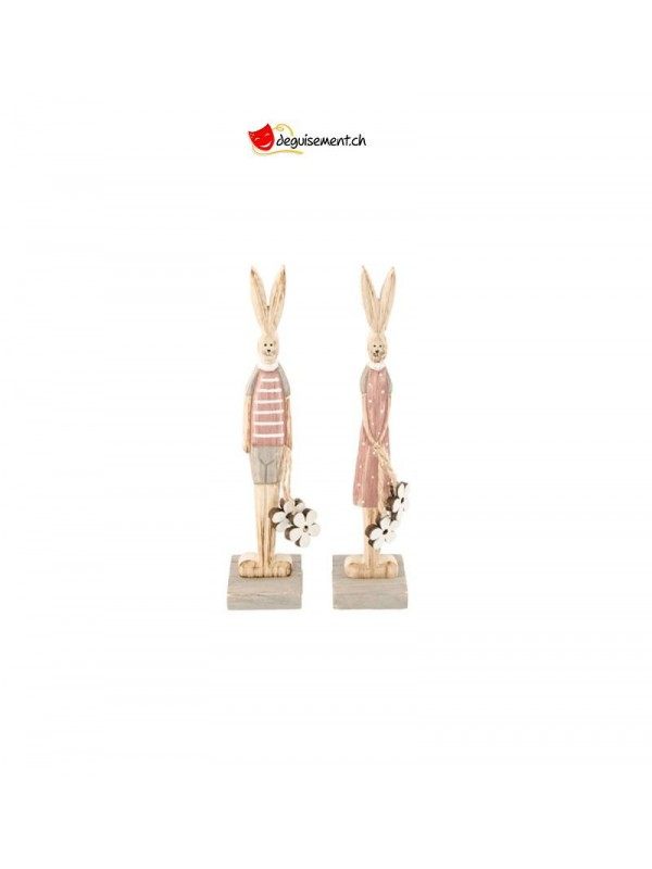 Wooden Easter Bunny decoration