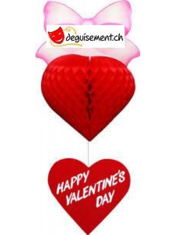 Décoration à Suspendre Coeur pour Saint Valentin
