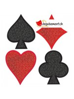 Découpe de carte casino brillante