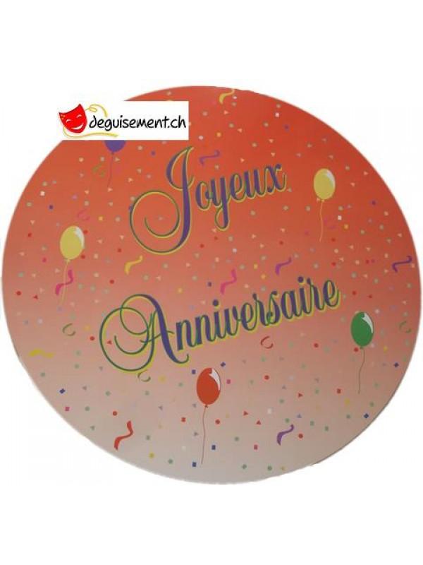 Découpe - Cut out Joyeux Anniversaire ballons