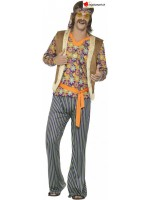 Hippie singer disguise from the 60s