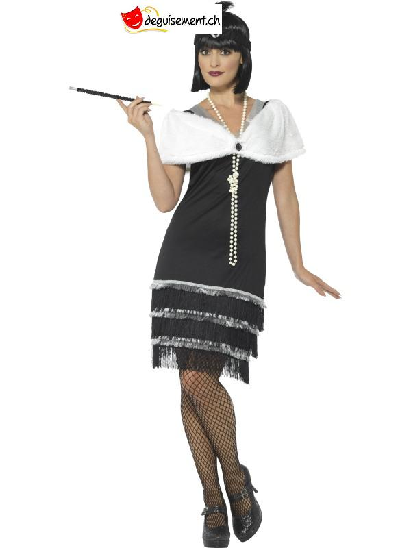 Black and white Charleston Flapper disguise