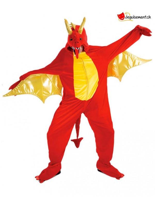 Deguisement dragon rouge 180 cm