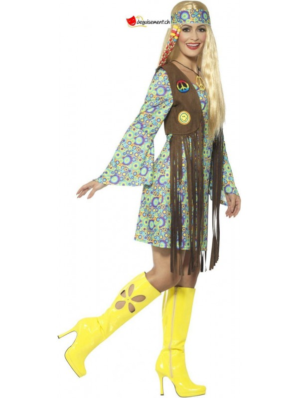 Hippie dress with fringe disguise woman