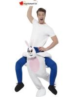 Déguisement homme sur épaule de lapin - Taille unique