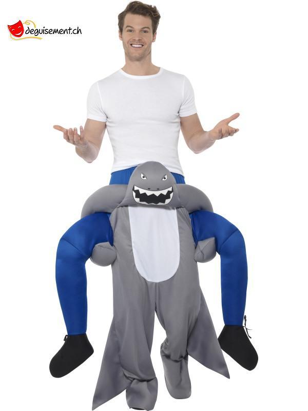 Déguisement homme sur épaule de requin - Taille unique