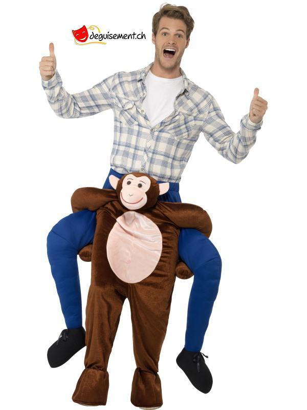 Déguisement homme sur épaule de singe - Taille unique