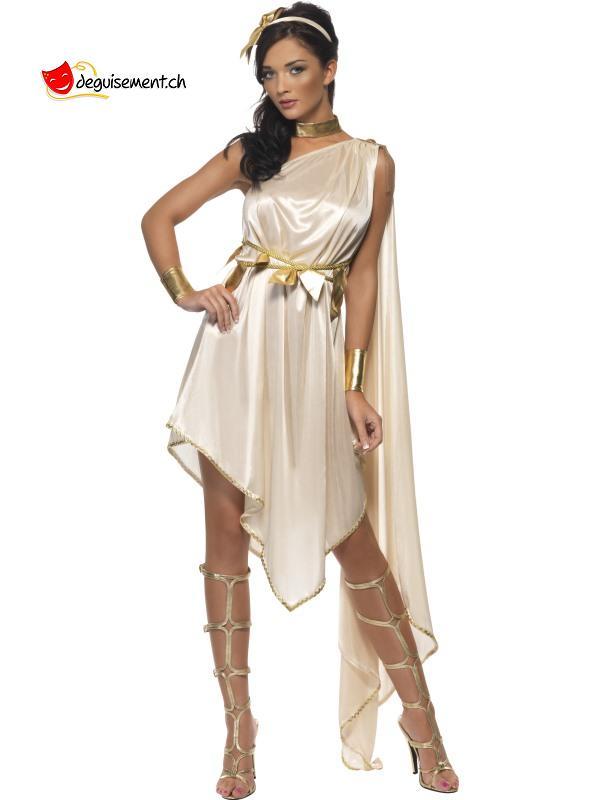 Golden dress disguise Greek Goddess