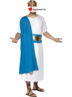 White and blue Roman disguise
