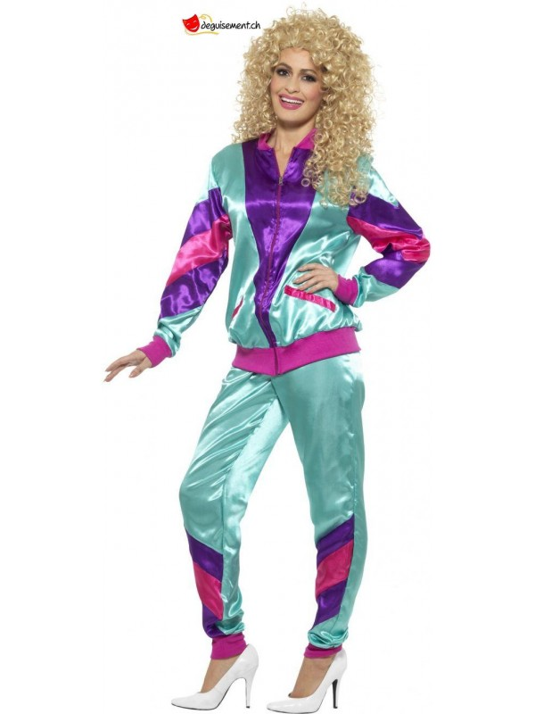 80s Height of Fashion Shell Suit Costume, Female