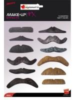 Diverses moustaches - 12 pièces