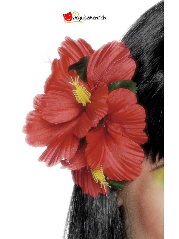 Fleurs hawaii pour cheveux rouge