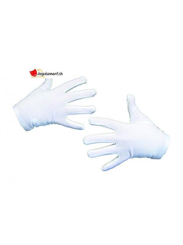Gants courts blancs  - taille unique