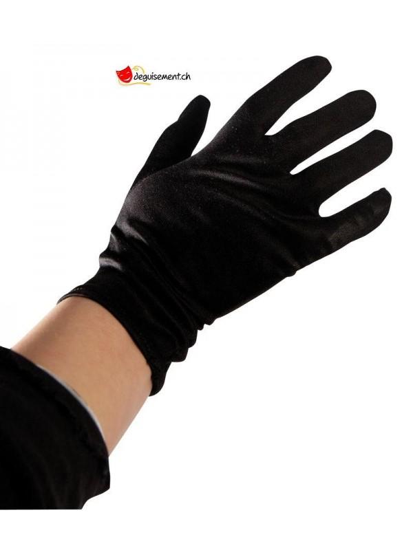 Gants noirs court - la paire