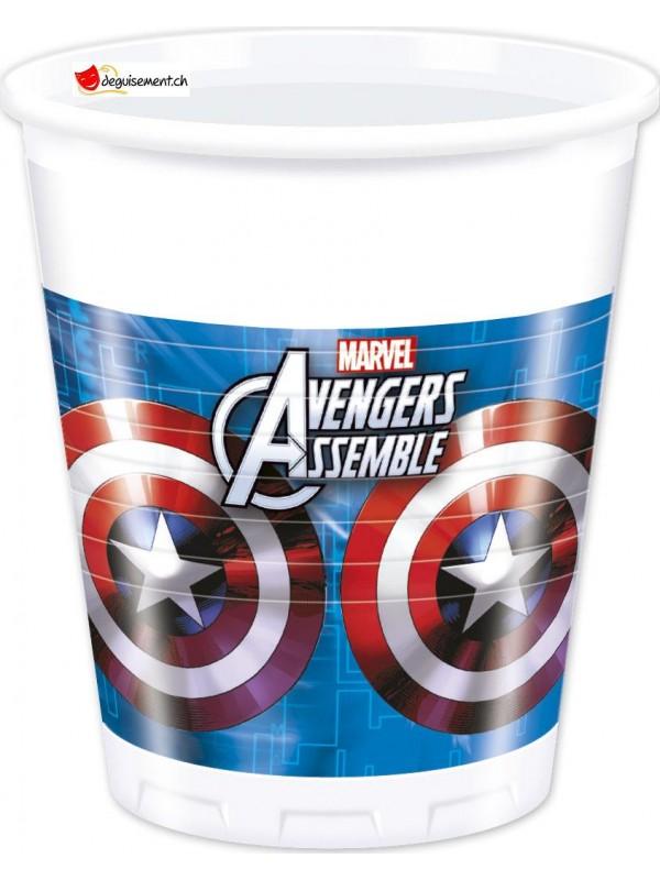 Gobelets Avengers - 8 pces - 200ml