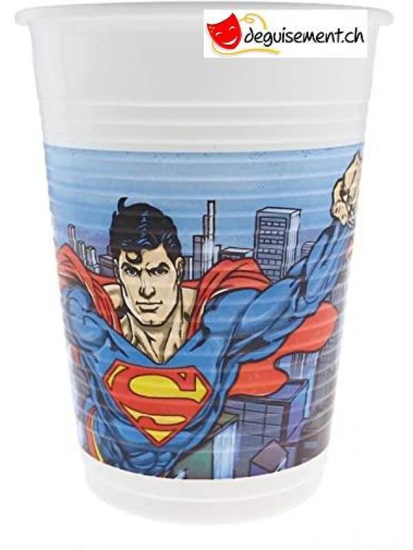 Gobelets Superman - 8 pces - 200ml