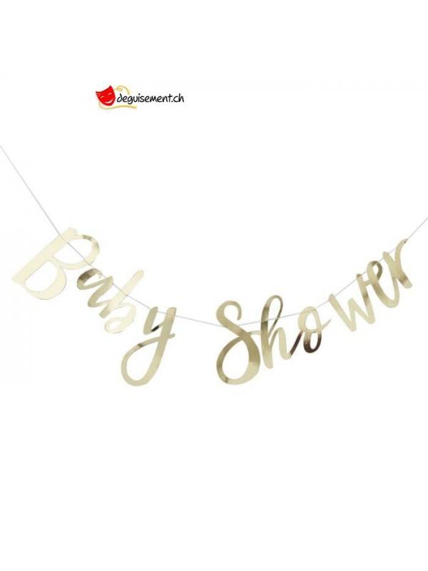 Golden Baby Shower garland