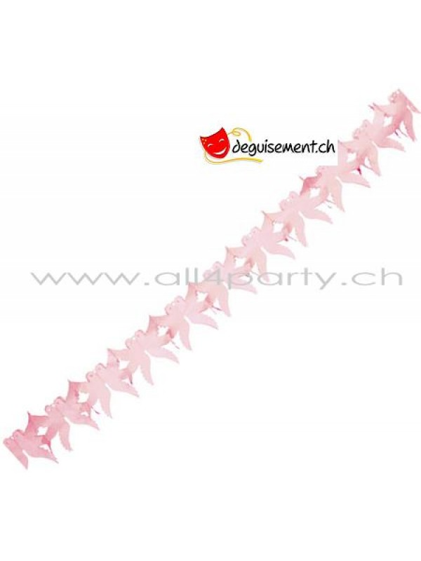 Guirlande Colombes rose