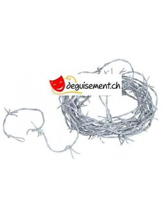 Silver Barbed Wire Garland<br>
