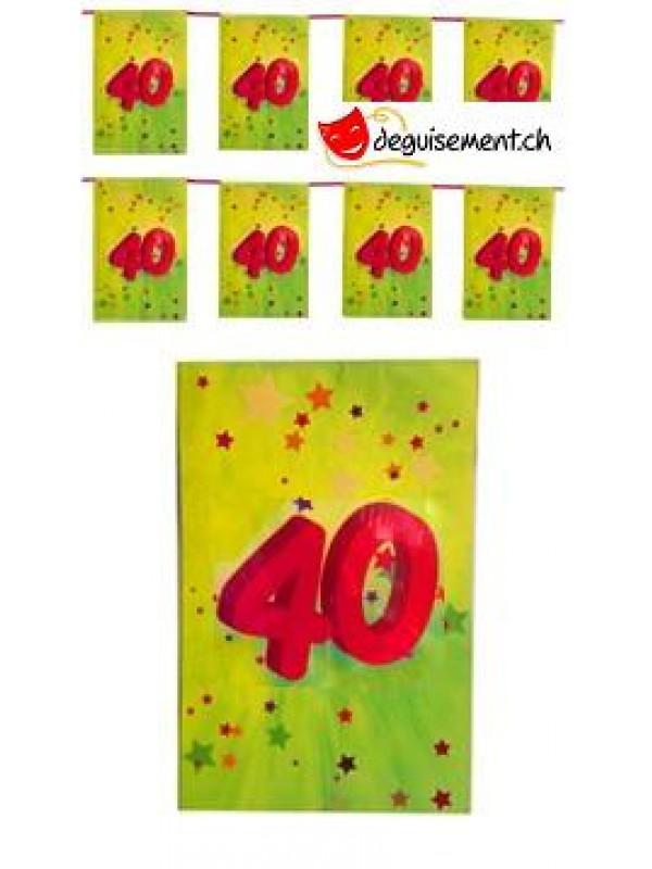 Guirlande papier 40ans - 4.5m
