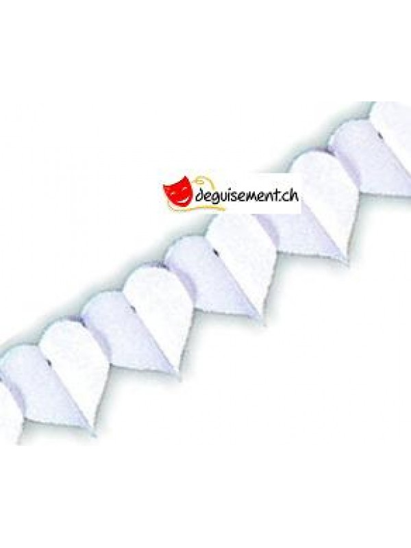 Guirlande à Suspendre Coeur Blanc