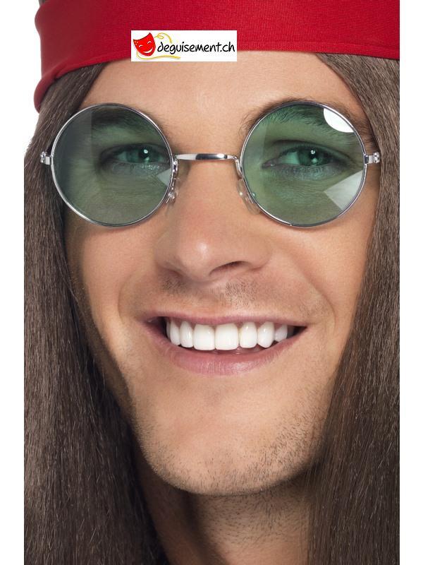 Lunette hippie ronde - couleurs assorties