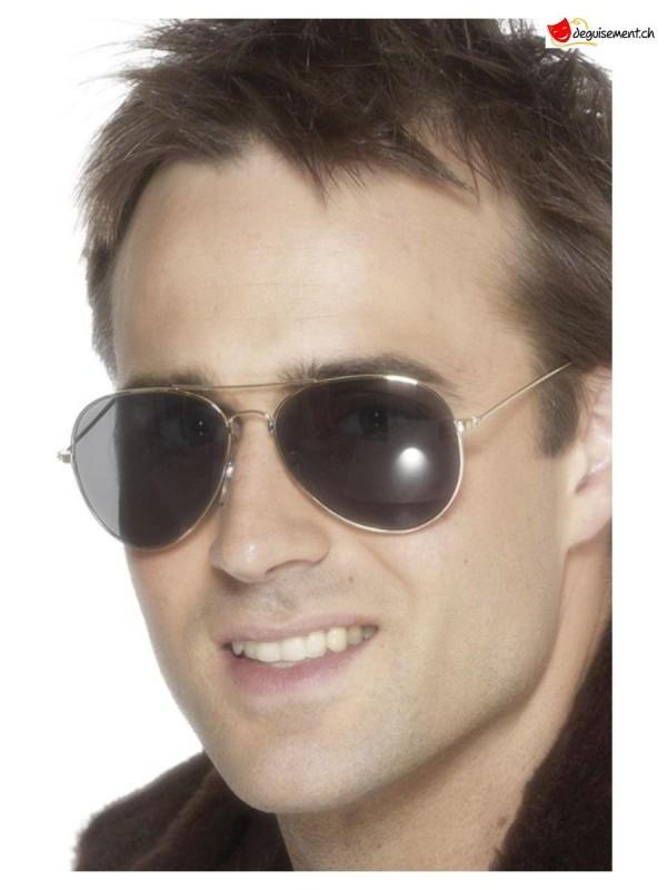 Silver Aviator Glasses with dark lenses