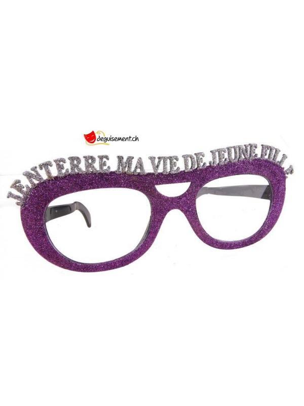 Giant glitter glasses - j'enterre ma vie de jeune fille