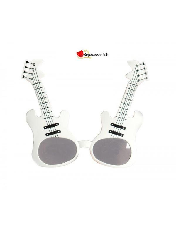 White guitar glasses