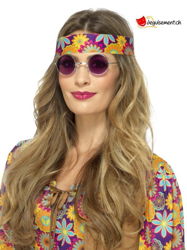 Lunettes hippie violette