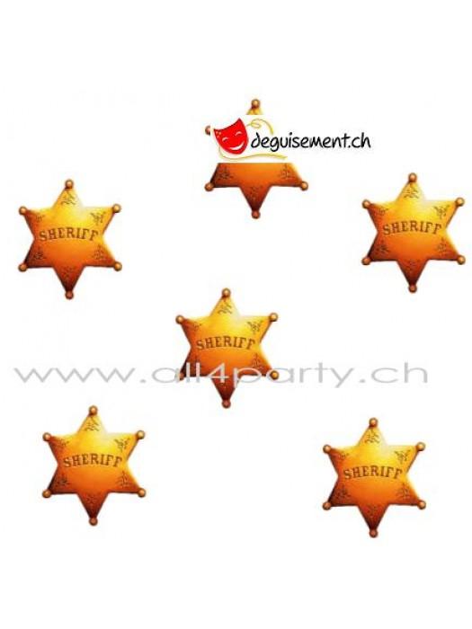 Mini découpes étoile de sheriff