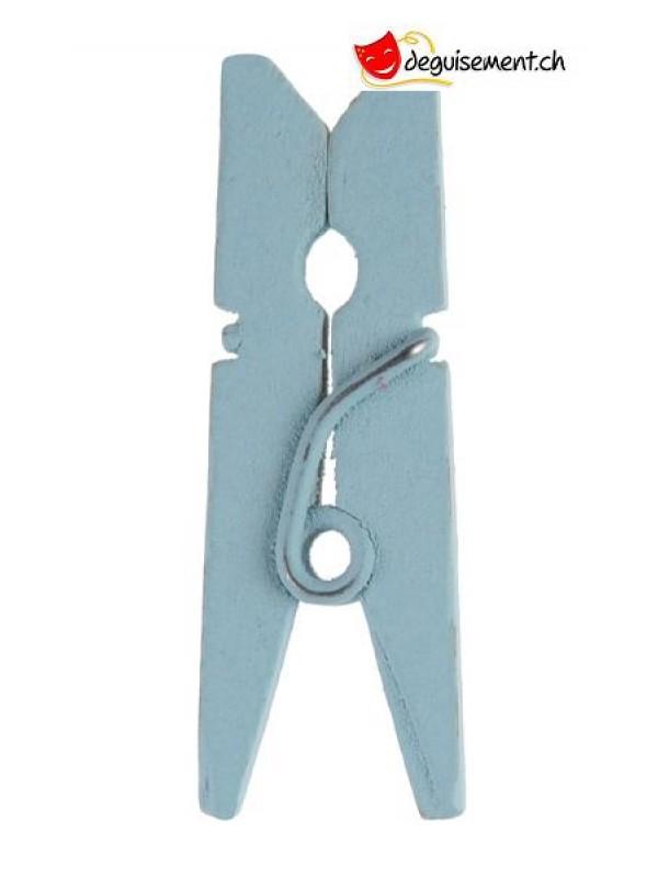 Mini sky blue wooden tongs