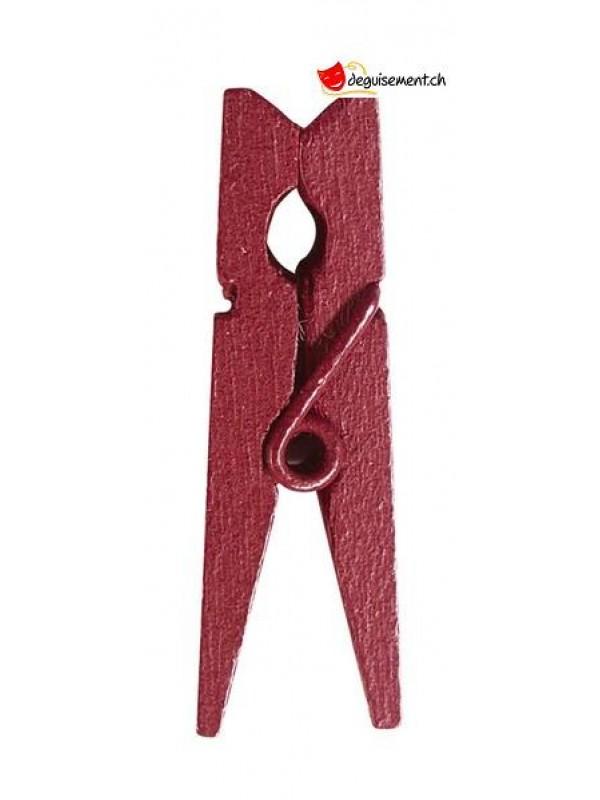 Mini wooden pliers burgundy