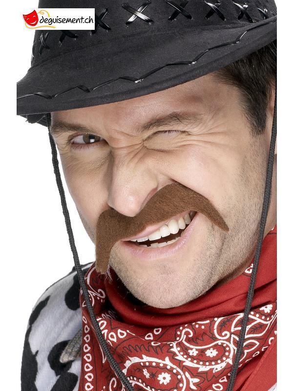 Moustache adhésive cowboy brun