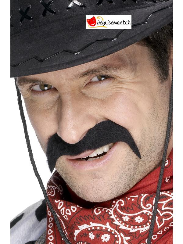 Moustache adhésive cowboy noir