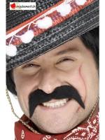 Moustache adhésive mexicain noir