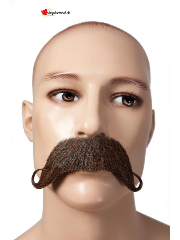 Moustache marron adhésive