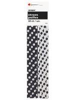 Pailles en papier noir - 10 pces